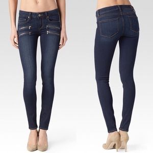 PAIGE Edgemont Dark Wash Skinny Stretch Jeans
